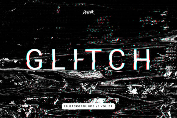 Glitch | Intense Backgrounds Vol. 01 Graphic By dvtchk