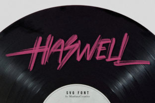 Print on Demand: Haswell Script & Handwritten Font By Maulana Creative