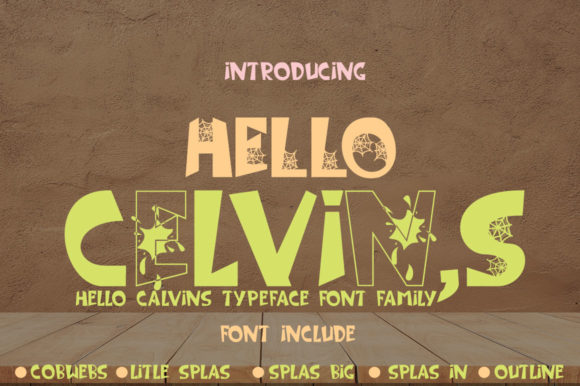 Print on Demand: Hello Celvins Display Font By jehansyah251