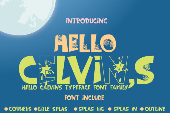 Print on Demand: Hello Celvins Display Font By jehansyah251 - Image 3