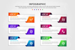 Infographic Long Horizontal Six Step Graphic By noory.shopper