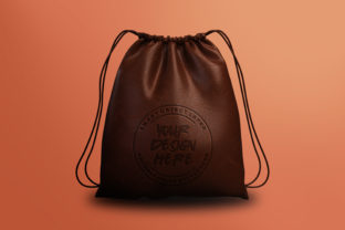 Leather Drawstring Bag Mockup Template Graphic By Suedanstock