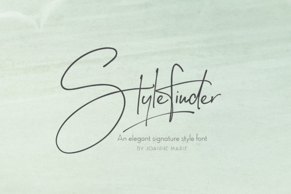Print on Demand: Stylefinder Script & Handwritten Font By joanne.hewitt