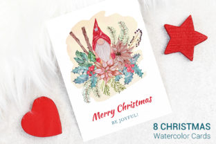 Print on Demand: Cards with Christmas Tree Graphic Illustrations By PawStudio