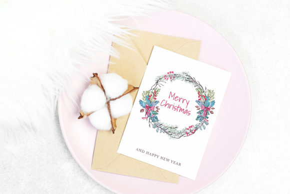 Download Free Christmas Cards Watercolor Decoration Graphic By Pawstudio Creative Fabrica for Cricut Explore, Silhouette and other cutting machines.