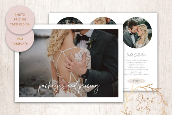 Print on Demand: PSD Photography Price Card Template #16 Graphic Print Templates By daphnepopuliers