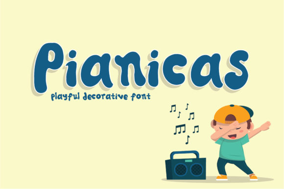 Pianicas Display Font By gumacreative