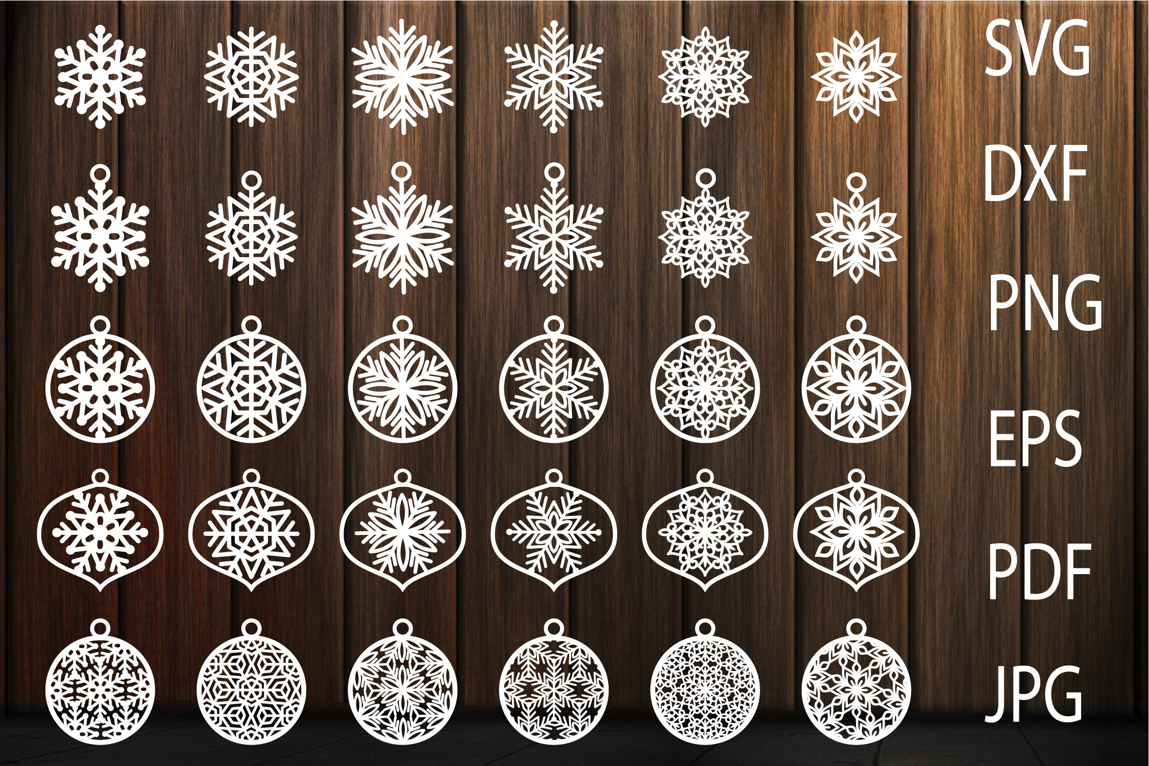 Download Free Christmas Decorations Christmas Balls Graphic By Yulnniya for Cricut Explore, Silhouette and other cutting machines.