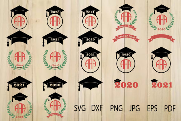 Download Free Graduation Cap Frame Laurel Wreath Graphic By Yulnniya for Cricut Explore, Silhouette and other cutting machines.