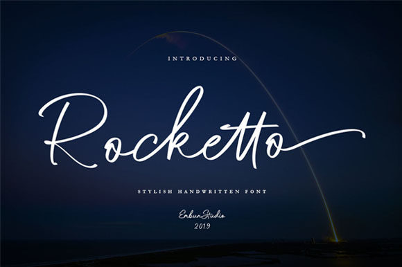 Print on Demand: Rocketto Script & Handwritten Font By EmbunStudio