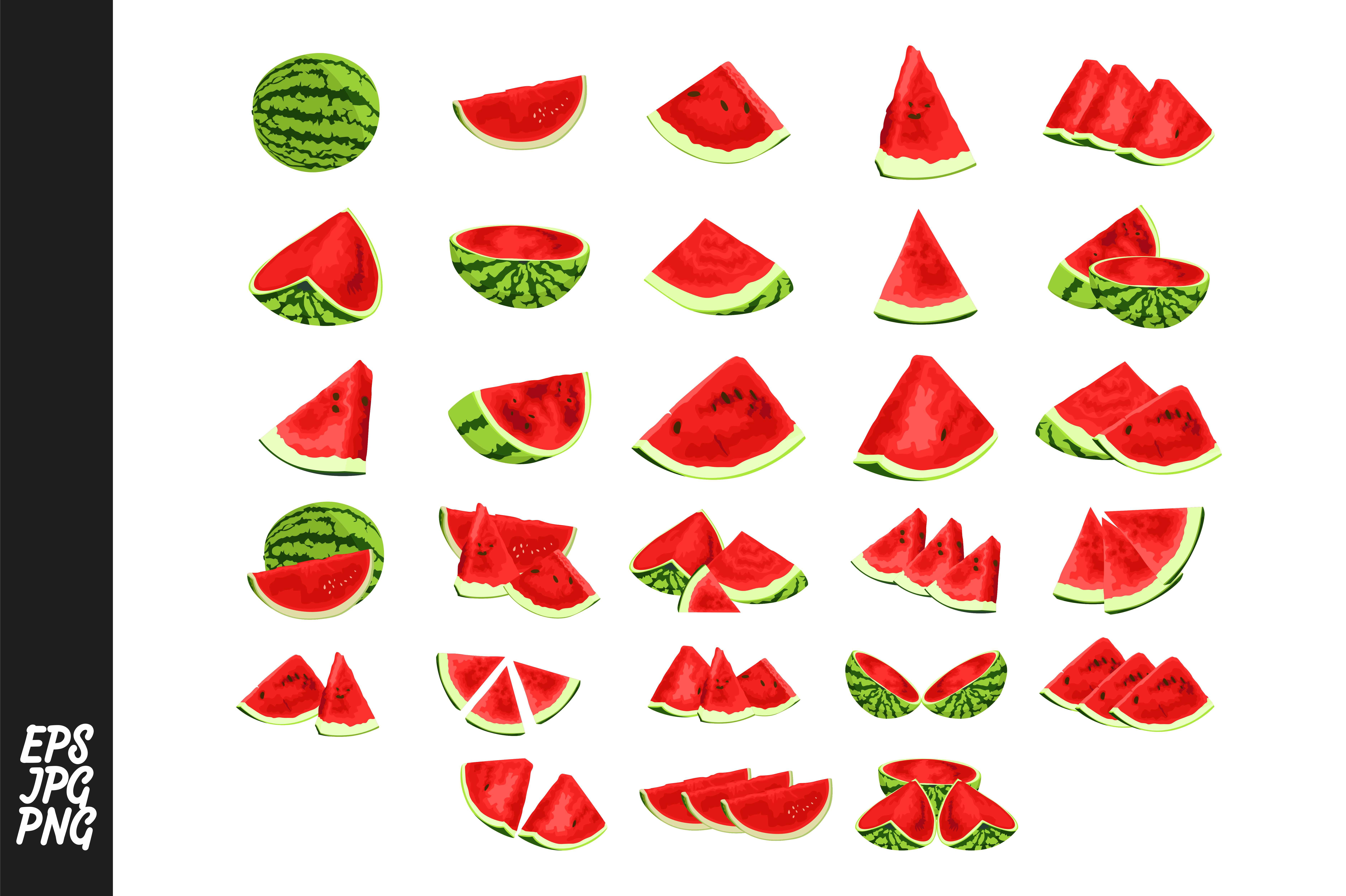Download Free Red Watermelons Vector Bundle Graphic By Arief Sapta Adjie for Cricut Explore, Silhouette and other cutting machines.