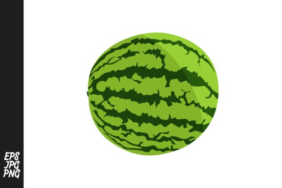 Print on Demand: Collection of Red Watermelons Graphic Crafts By Arief Sapta Adjie - Image 2