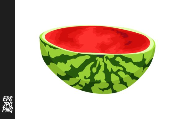 Print on Demand: Collection of Red Watermelons Graphic Crafts By Arief Sapta Adjie - Image 7