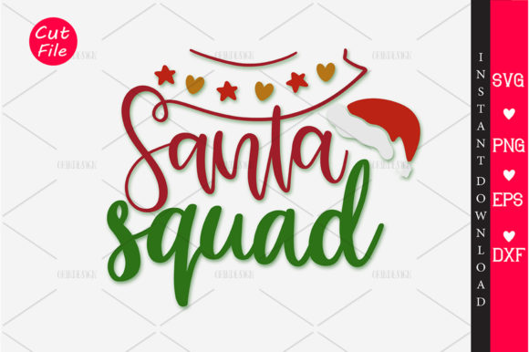 Download Free Santa Squad Svg Graphic By Orindesign Creative Fabrica for Cricut Explore, Silhouette and other cutting machines.