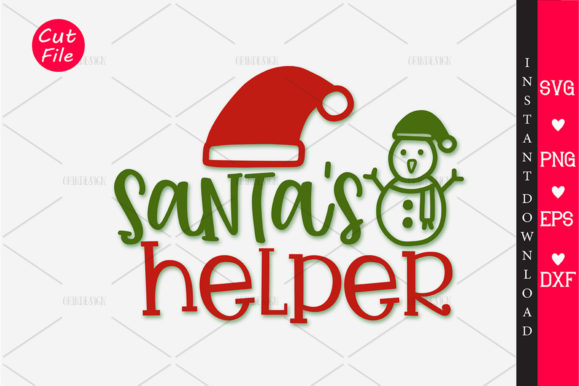 Print on Demand: Santa's Helper SVG Gráfico Crafts Por OrinDesign