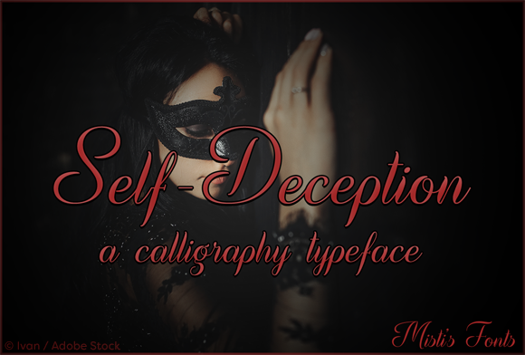 Print on Demand: Self-Deception Script & Handwritten Font By Misti