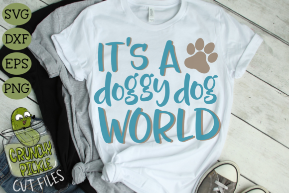Doggy Dog World Graphic Crafts By Crunchy Pickle