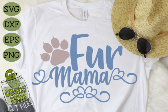Fur Mama Cat Graphic Crafts By Crunchy Pickle