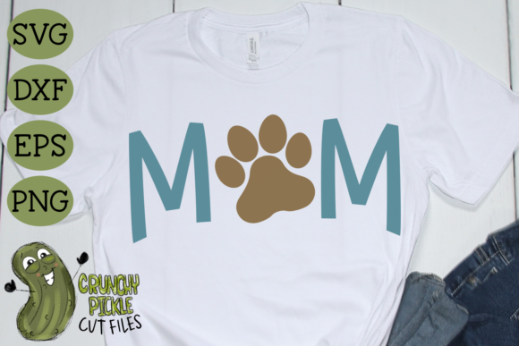 Dog Mom Paw Graphic Crafts By Crunchy Pickle