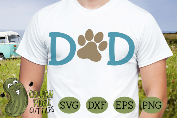 Dog Dad Paw Graphic Crafts By Crunchy Pickle