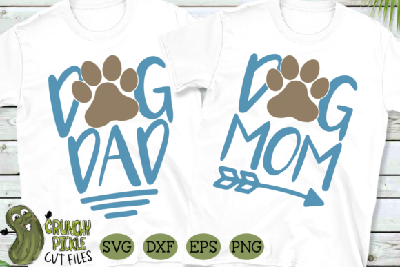 Dog Mom and Dog Dad Matching Graphic Crafts By Crunchy Pickle