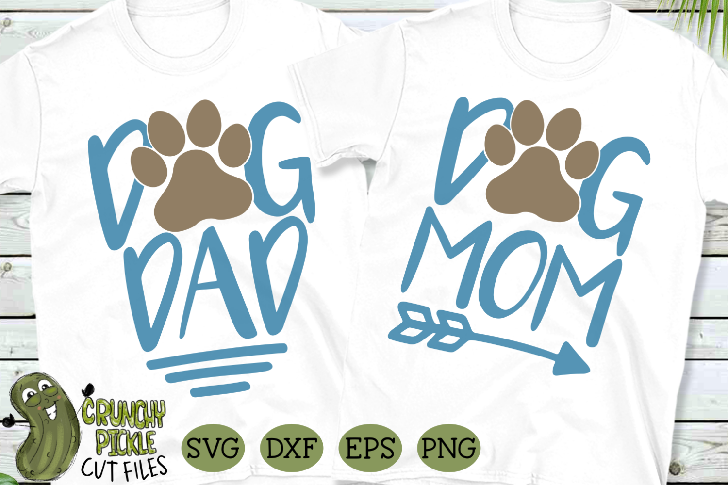 Download Free Dog Mom And Dog Dad Matching Grafico Por Crunchy Pickle for Cricut Explore, Silhouette and other cutting machines.