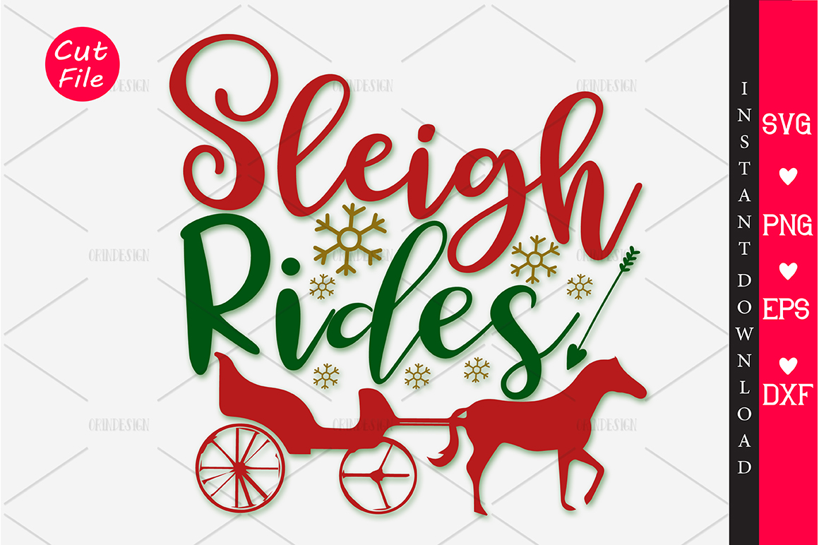 Download Free Sleigh Rides Svg Graphic By Orindesign Creative Fabrica for Cricut Explore, Silhouette and other cutting machines.