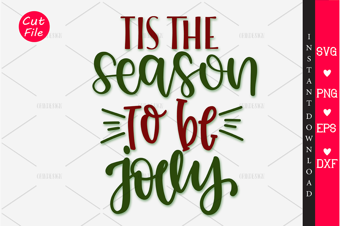 Download Free Tis The Season To Be Jolly Svg Graphic By Orindesign Creative SVG Cut Files