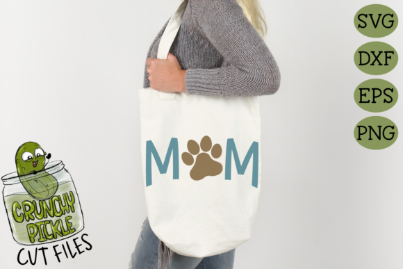 Dog Mom Paw Graphic Crafts By Crunchy Pickle - Image 3