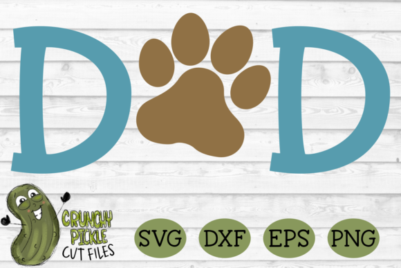 Download Free Dog Dad Paw Graphic By Crunchy Pickle Creative Fabrica SVG Cut Files