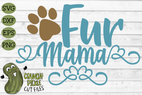 Fur Mama Dog Graphic Crafts By Crunchy Pickle - Image 2