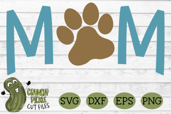Dog Mom Paw Graphic Crafts By Crunchy Pickle - Image 2