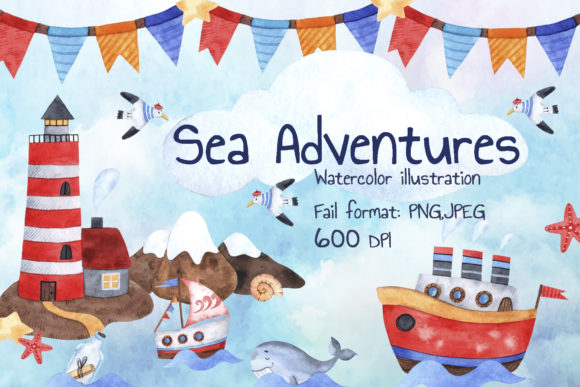 Sea Adventures Graphic Illustrations By Mari_artchef - Image 1
