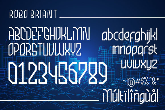 Print on Demand: Robo Briant Display Font By fadhil figuree - Image 4