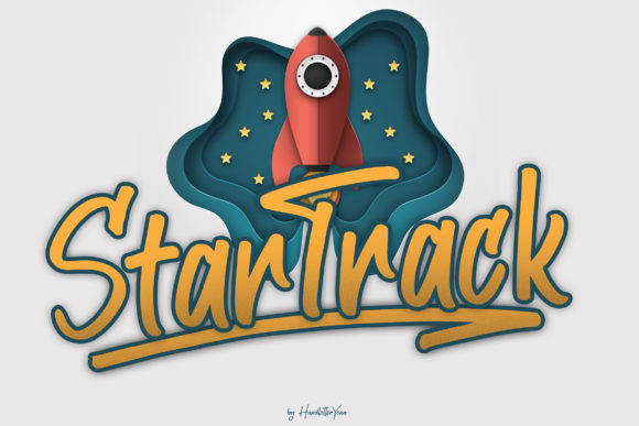 Print on Demand: Star Track Display Font By yean.aguste