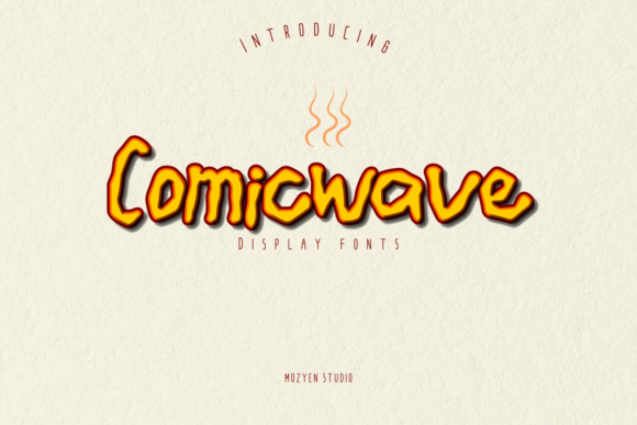 Print on Demand: Comicwave Display Font By mozyenstudio
