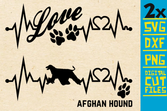 2x Afghan Hound Dog Bundle Svg Graphic By svgyeahyouknowme