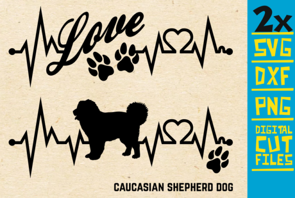 Download Free 2x Caucasian Shepherd Dog Bundle Svg Graphic By Svgyeahyouknowme for Cricut Explore, Silhouette and other cutting machines.