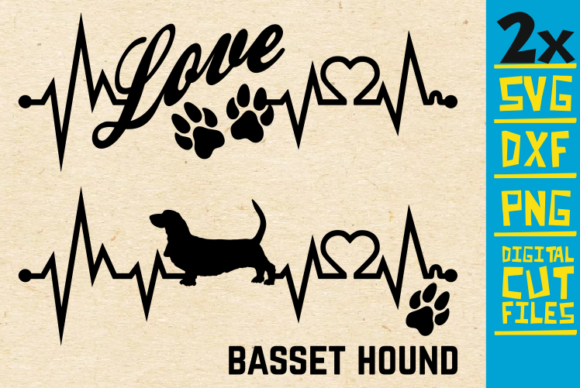 Download Free 2x Basset Hound Dog Bundle Svg Graphic By Svgyeahyouknowme Creative Fabrica for Cricut Explore, Silhouette and other cutting machines.