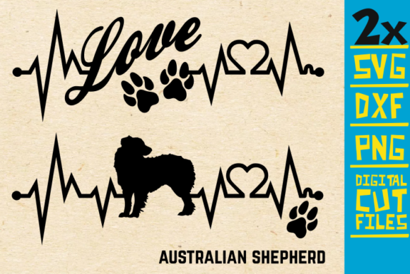 Download Free 2x Australian Shepherd Bundle Svg Graphic By Svgyeahyouknowme for Cricut Explore, Silhouette and other cutting machines.