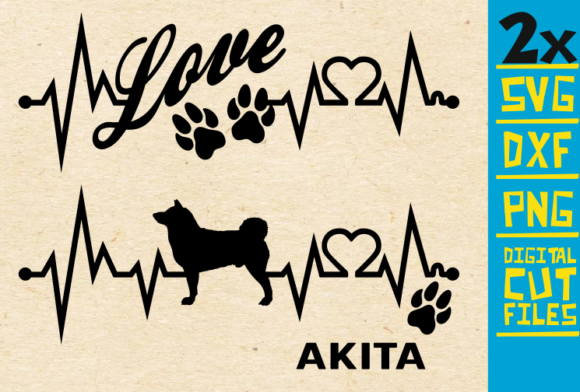 2x Akita Dog Bundle Svg Graphic By Svgyeahyouknowme Creative