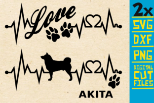 Download Free 2x Akita Dog Bundle Svg Graphic By Svgyeahyouknowme Creative for Cricut Explore, Silhouette and other cutting machines.