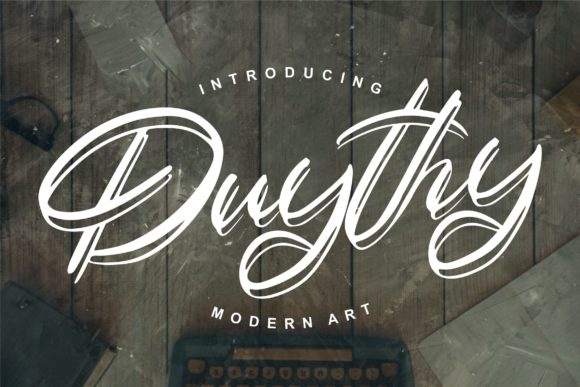 Print on Demand: Duythy Script & Handwritten Font By Vunira
