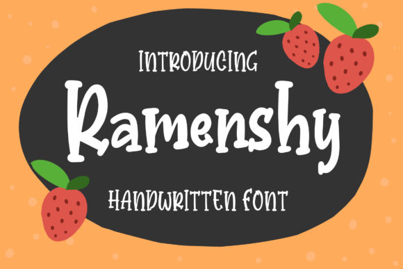 Print on Demand: Ramenshy Display Font By Bangkit Setiadi