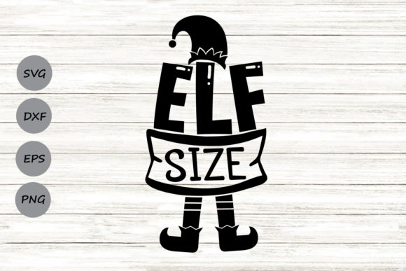 Download Free Elf Size Graphic By Cosmosfineart Creative Fabrica for Cricut Explore, Silhouette and other cutting machines.