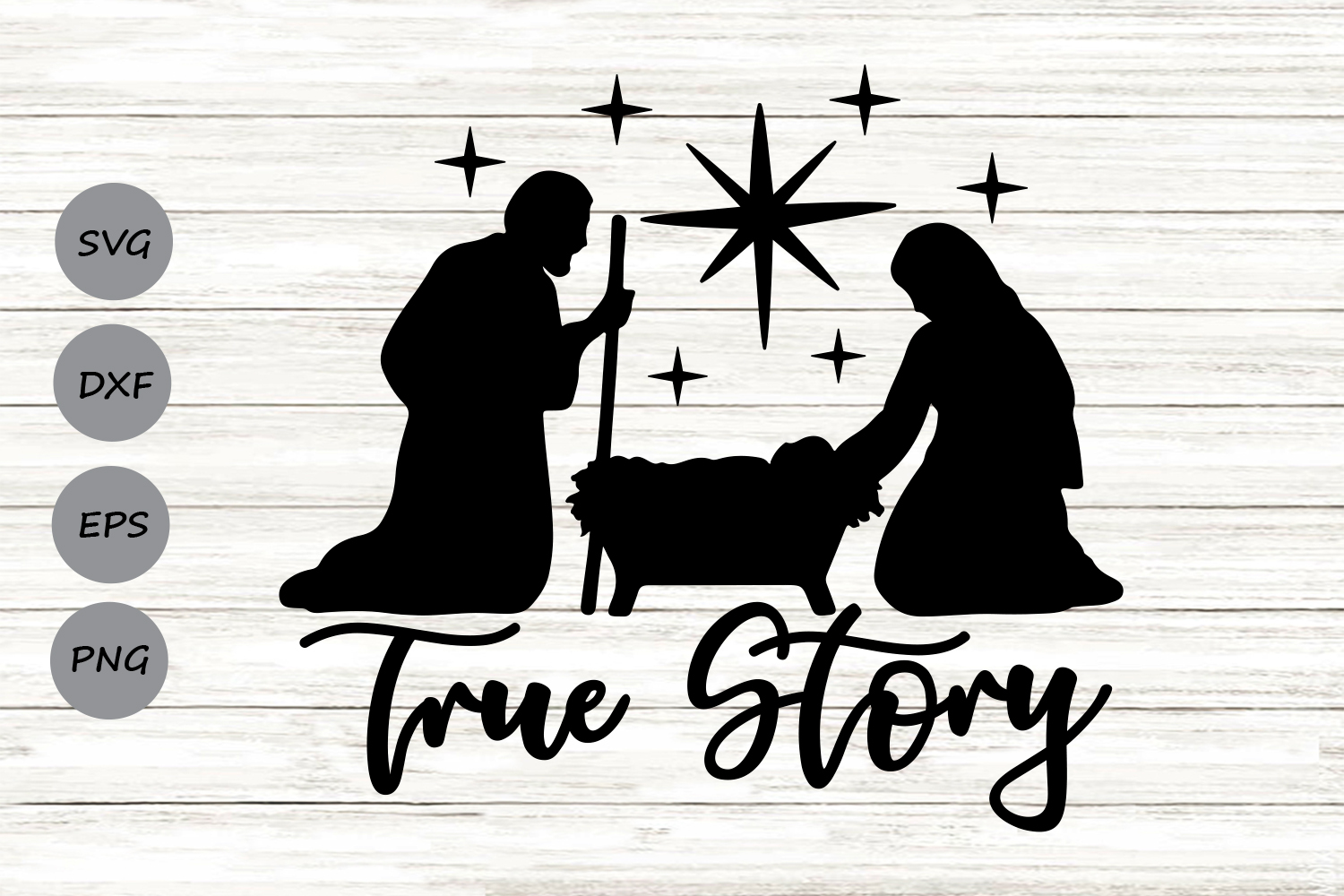 Download Free True Story Graphic By Cosmosfineart Creative Fabrica for Cricut Explore, Silhouette and other cutting machines.
