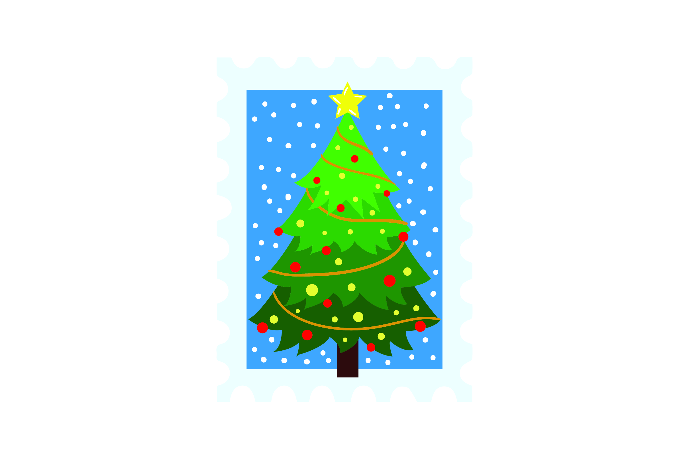 Download Free Christmas Stamp With Xmas Tree Svg Cut File By Creative Fabrica for Cricut Explore, Silhouette and other cutting machines.