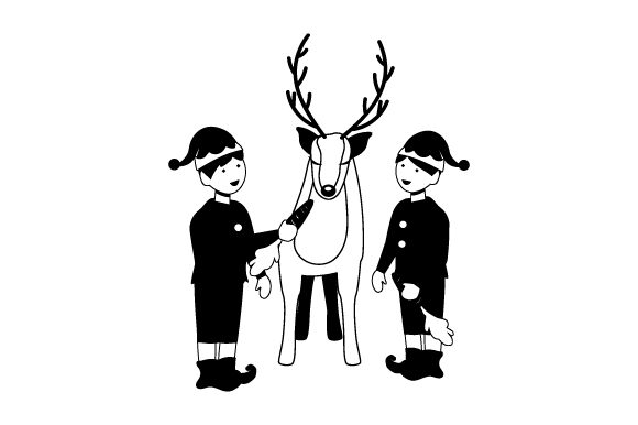Download Free Elves Feeding Reindeer Svg Cut File By Creative Fabrica Crafts for Cricut Explore, Silhouette and other cutting machines.