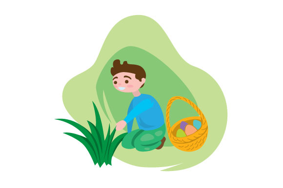 Download Free Kid Holding Easter Basket Hunting For Eggs Svg Cut File By for Cricut Explore, Silhouette and other cutting machines.