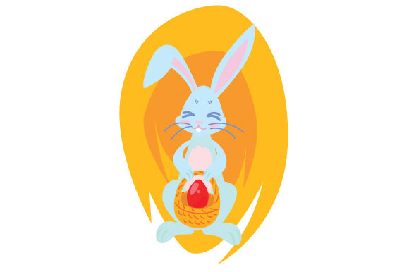 Download Free Bunny Holding Easter Basket Svg Cut File By Creative Fabrica for Cricut Explore, Silhouette and other cutting machines.